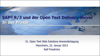 Der OpenText Delivery Server